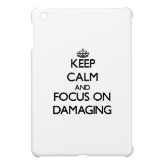 Keep Calm and focus on Damaging iPad Mini Cover