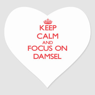 Keep Calm and focus on Damsel Sticker