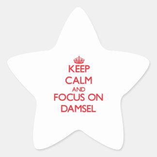 Keep Calm and focus on Damsel Star Sticker