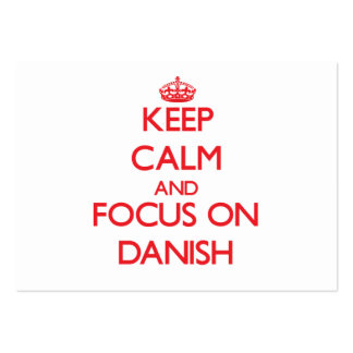 Keep Calm and focus on Danish Business Cards