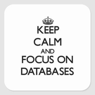 Keep Calm and focus on Databases Square Sticker