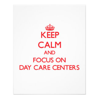 Keep Calm and focus on Day Care Centers Flyer Design