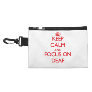 Keep Calm and focus on Deaf Accessories Bag