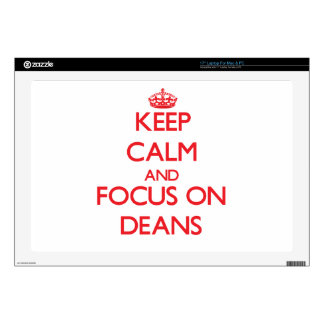 Keep Calm and focus on Deans Laptop Decal