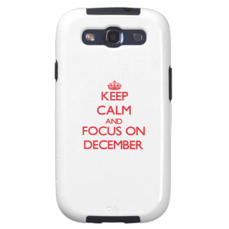 Keep Calm and focus on December Samsung Galaxy SIII Cover