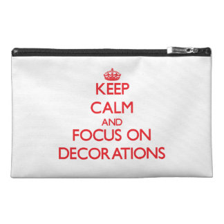 Keep Calm and focus on Decorations Travel Accessories Bags