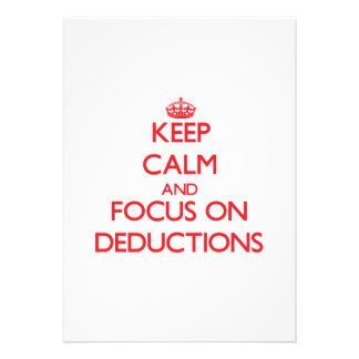 Keep Calm and focus on Deductions Personalized Invite