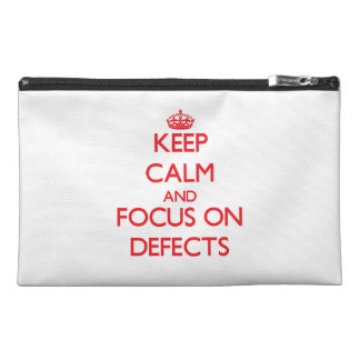 Keep Calm and focus on Defects Travel Accessories Bags
