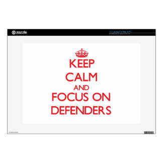Keep Calm and focus on Defenders Decal For Laptop