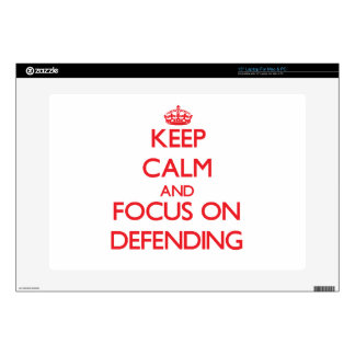 Keep Calm and focus on Defending Laptop Skin
