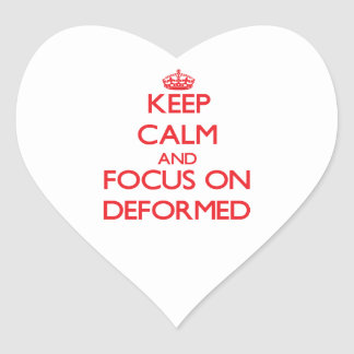 Keep Calm and focus on Deformed Heart Sticker