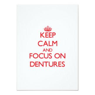 "Keep Calm and focus on Dentures 5"" X 7"" Invitation Card"