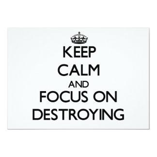 Keep Calm and focus on Destroying Custom Announcements