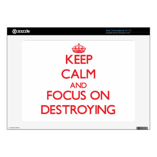 Keep Calm and focus on Destroying Acer Chromebook Skins