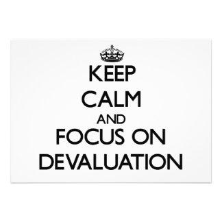 Keep Calm and focus on Devaluation Custom Invites