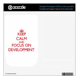 Keep Calm and focus on Development FreeAgent GoFlex Decal