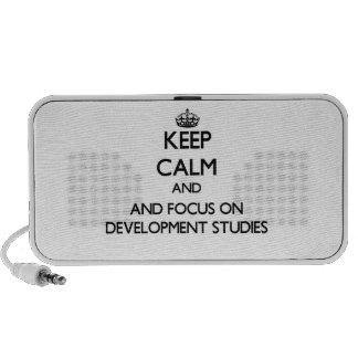 Keep calm and focus on Development Studies Portable Speaker
