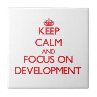 Keep Calm and focus on Development Tiles