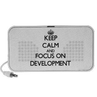 Keep Calm and focus on Development Travel Speaker
