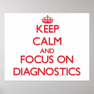 Keep Calm and focus on Diagnostics Poster