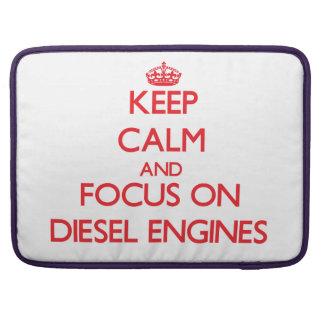 Keep Calm and focus on Diesel Engines MacBook Pro Sleeve