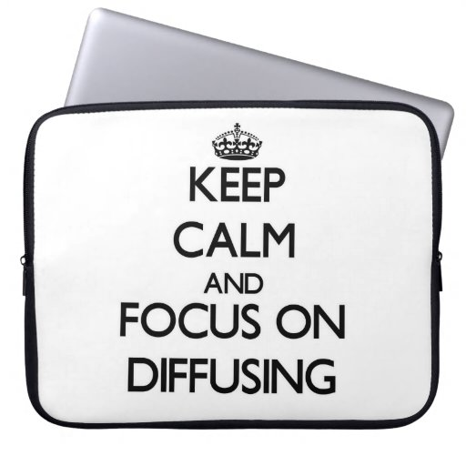 Keep Calm and focus on Diffusing Laptop Computer Sleeves