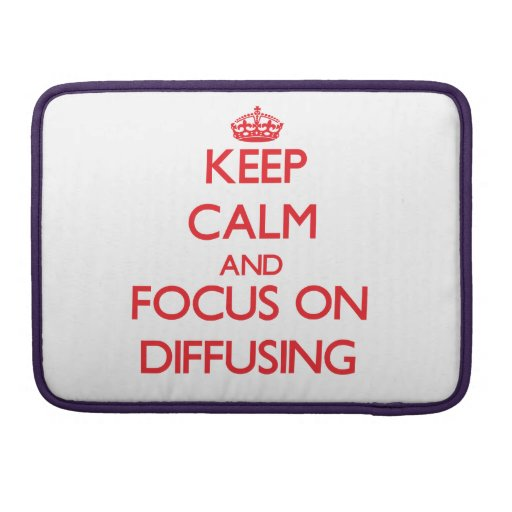 Keep Calm and focus on Diffusing MacBook Pro Sleeves