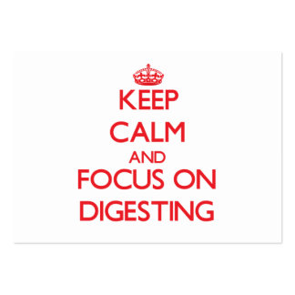 Keep Calm and focus on Digesting Business Cards
