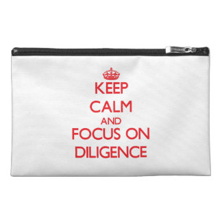 Keep Calm and focus on Diligence Travel Accessories Bags