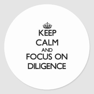 Keep Calm and focus on Diligence Sticker