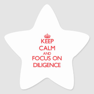 Keep Calm and focus on Diligence Stickers