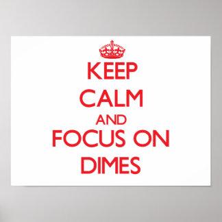 Keep Calm and focus on Dimes Print