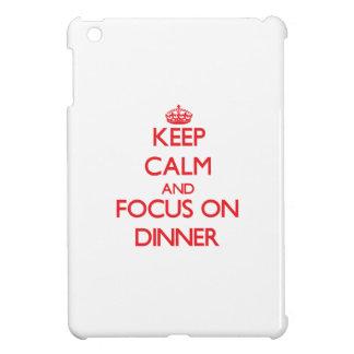 Keep Calm and focus on Dinner iPad Mini Case