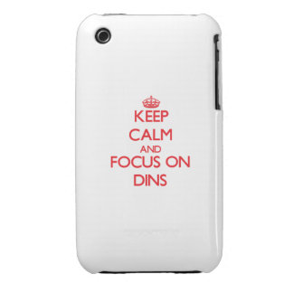 Keep Calm and focus on Dins iPhone 3 Cases