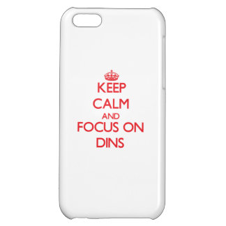 Keep Calm and focus on Dins iPhone 5C Cover