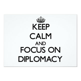 Keep Calm and focus on Diplomacy Personalized Invitations