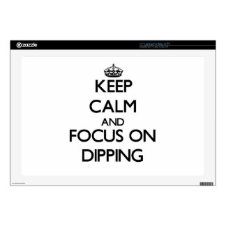 "Keep Calm and focus on Dipping 17"" Laptop Decal"