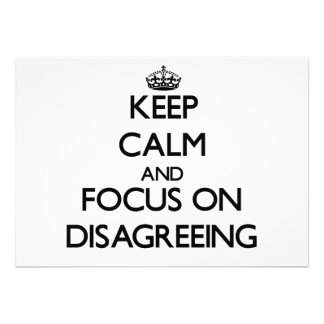 Keep Calm and focus on Disagreeing Personalized Invites