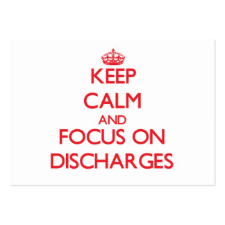 Keep Calm and focus on Discharges Large Business Cards (Pack Of 100)