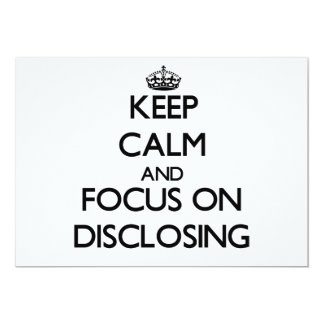 Keep Calm and focus on Disclosing Personalized Invite