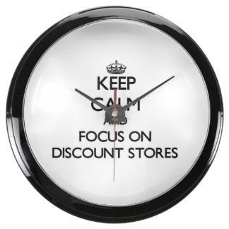 Keep Calm and focus on Discount Stores Fish Tank Clock