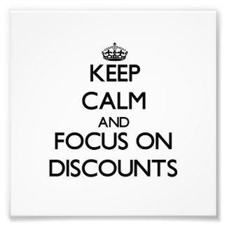 Keep Calm and focus on Discounts Photo Print