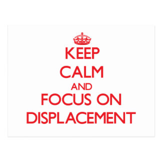 Keep Calm and focus on Displacement Postcard