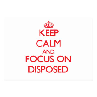 Keep Calm and focus on Disposed Large Business Cards (Pack Of 100)