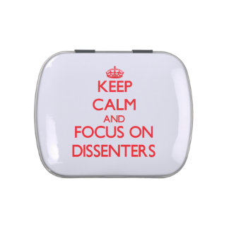 Keep Calm and focus on Dissenters Jelly Belly Tin