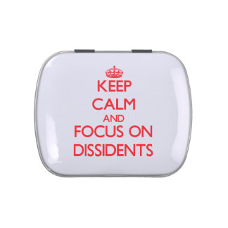 Keep Calm and focus on Dissidents Jelly Belly Candy Tins