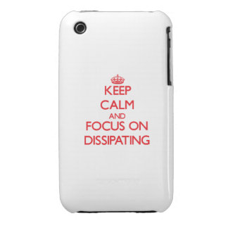 Keep Calm and focus on Dissipating iPhone 3 Case-Mate Case