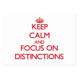 Keep Calm and focus on Distinctions Business Card Template