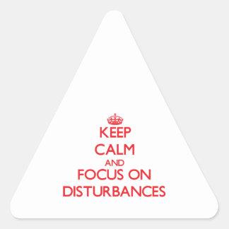 Keep Calm and focus on Disturbances Sticker