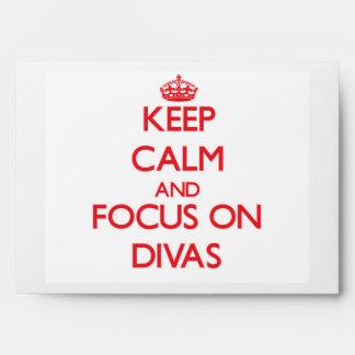 Keep Calm and focus on Divas Envelopes